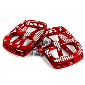 e*thirteen Plus Flat Pedals 22 Pins red